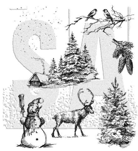 Tim Holtz Cling Rubber Stamps 2020 WINTERSCAPE CMS428 ** Preview Image