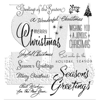 Tim Holtz Cling Rubber Stamps CHRISTMASTIME 3  CMS427