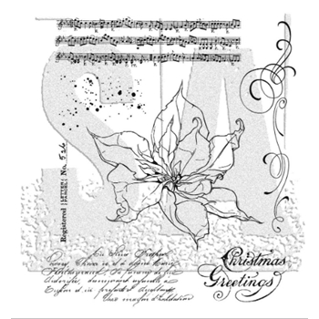Tim Holtz Cling Rubber Stamps THE POINSETTIA CMS426
