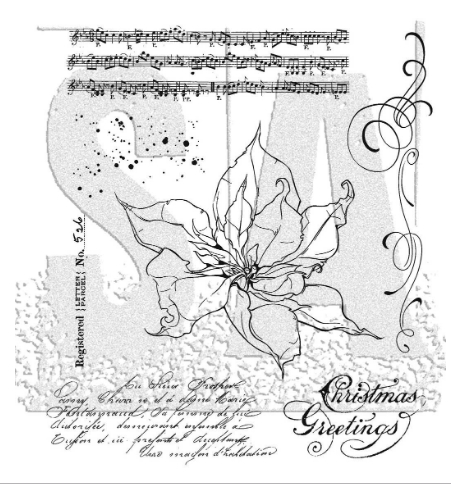 Tim Holtz Cling Rubber Stamps 2020 THE POINSETTIA CMS426 ** zoom image