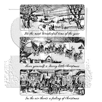 Tim Holtz Cling Rubber Stamps HOLIDAY SCENES CMS425
