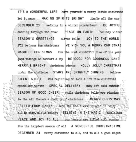 Tim Holtz Cling Rubber Stamps TINY TEXT CHRISTMAS CMS424 Preview Image