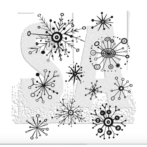 Tim Holtz Cling Rubber Stamps RETRO FLAKES CMS417 Preview Image