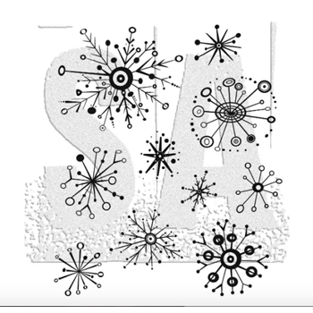 Tim Holtz Cling Rubber Stamps RETRO FLAKES CMS417