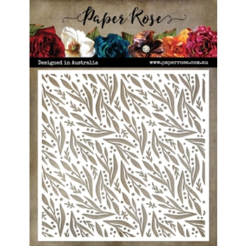 Paper Rose SPOTS AND LEAVES 6x6 Stencil 19727