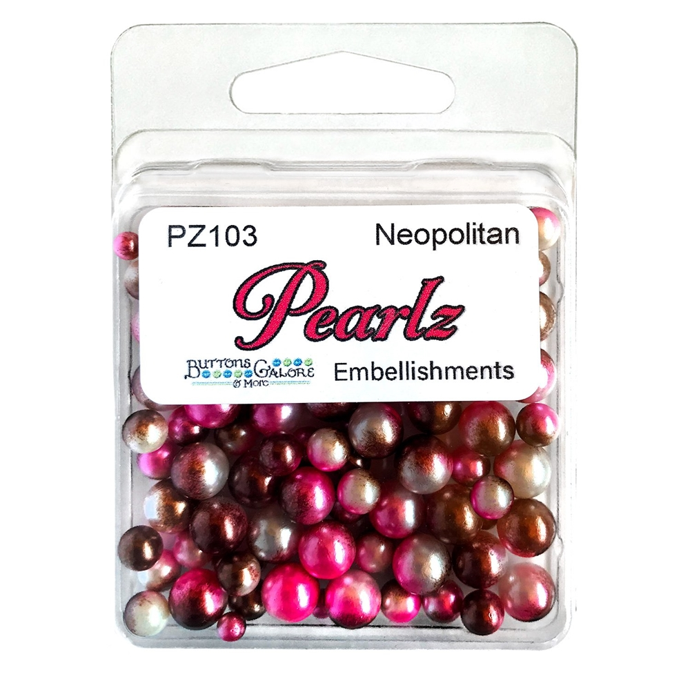 Buttons Galore and More Pearlz NEAPOLITAN Embellishments PZ103 zoom image