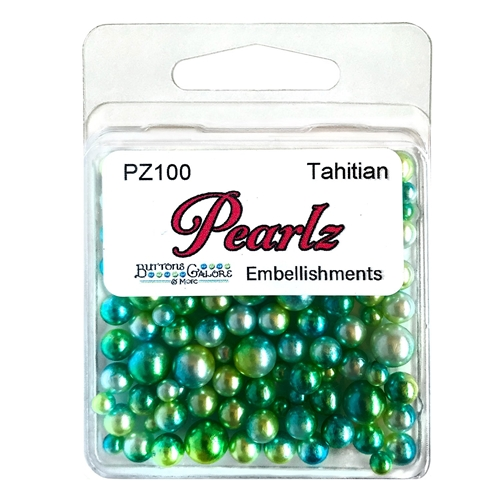 Buttons Galore and More Pearlz TAHITIAN Embellishments PZ100 Preview Image