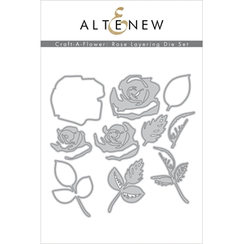 Altenew CRAFT A FLOWER ROSE Dies ALT4509