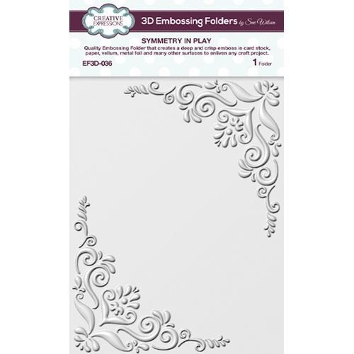 Creative Expressions SYMMETRY IN PLAY 3D Embossing Folder by Sue Wilson ef3d036 Preview Image