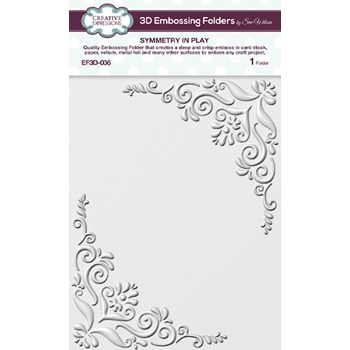 Creative Expressions SYMMETRY IN PLAY 3D Embossing Folder by Sue Wilson ef3d036