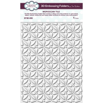 Creative Expressions MOROCCAN TILE 3D Embossing Folder by Sue Wilson ef3d035