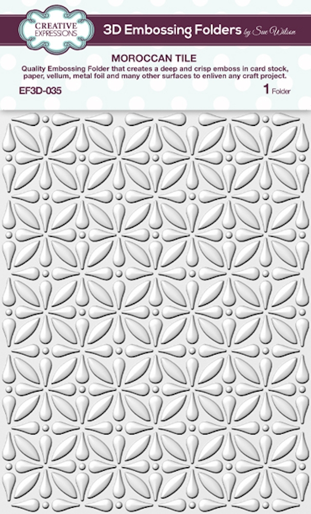 Creative Expressions MOROCCAN TILE 3D Embossing Folder by Sue Wilson ef3d035 zoom image