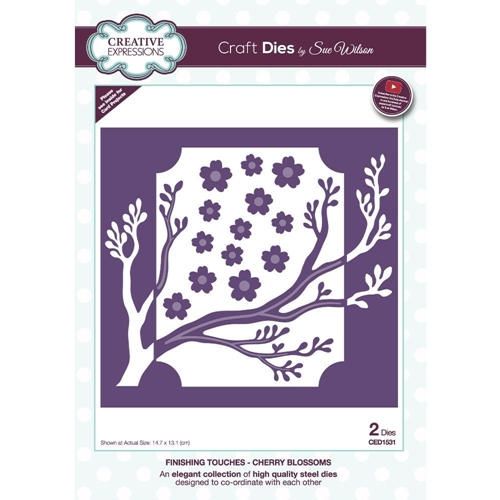 Creative Expressions CHERRY BLOSSOMS Sue Wilson Finishing Touches Dies ced1531 Preview Image