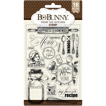 BoBunny FROM THE KITCHEN Clear Stamps 7311142