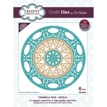 Creative Expressions CECILIA Sue Wilson Frames and Tags Dies ced4456