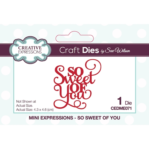 Creative Expressions SO SWEET OF YOU Sue Wilson Mini Expressions Dies ceme071 Preview Image