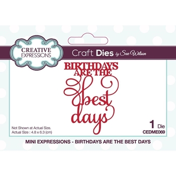 Creative Expressions BIRTHDAYS ARE THE BEST DAYS Sue Wilson Mini Expressions Dies ceme069