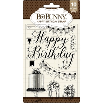 BoBunny HAPPY BIRTHDAY Clear Stamps 7311140