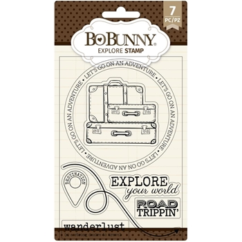 BoBunny EXPLORE Clear Stamps 7311143