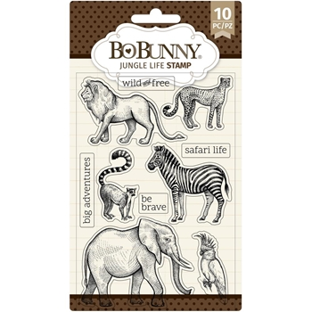 BoBunny JUNGLE LIFE Clear Stamps 7311162