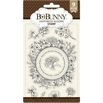 BoBunny HAPPINESS BLOOMS Clear Stamps 7311141