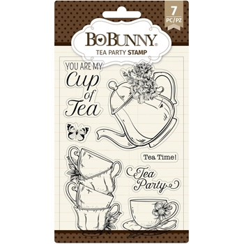 BoBunny TEA PARTY Clear Stamps 7311138