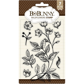 BoBunny WILDFLOWERS Clear Stamps 7311136