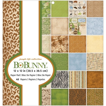 BoBunny JUNGLE LIFE 12 x 12 Paper Pad 7311157*