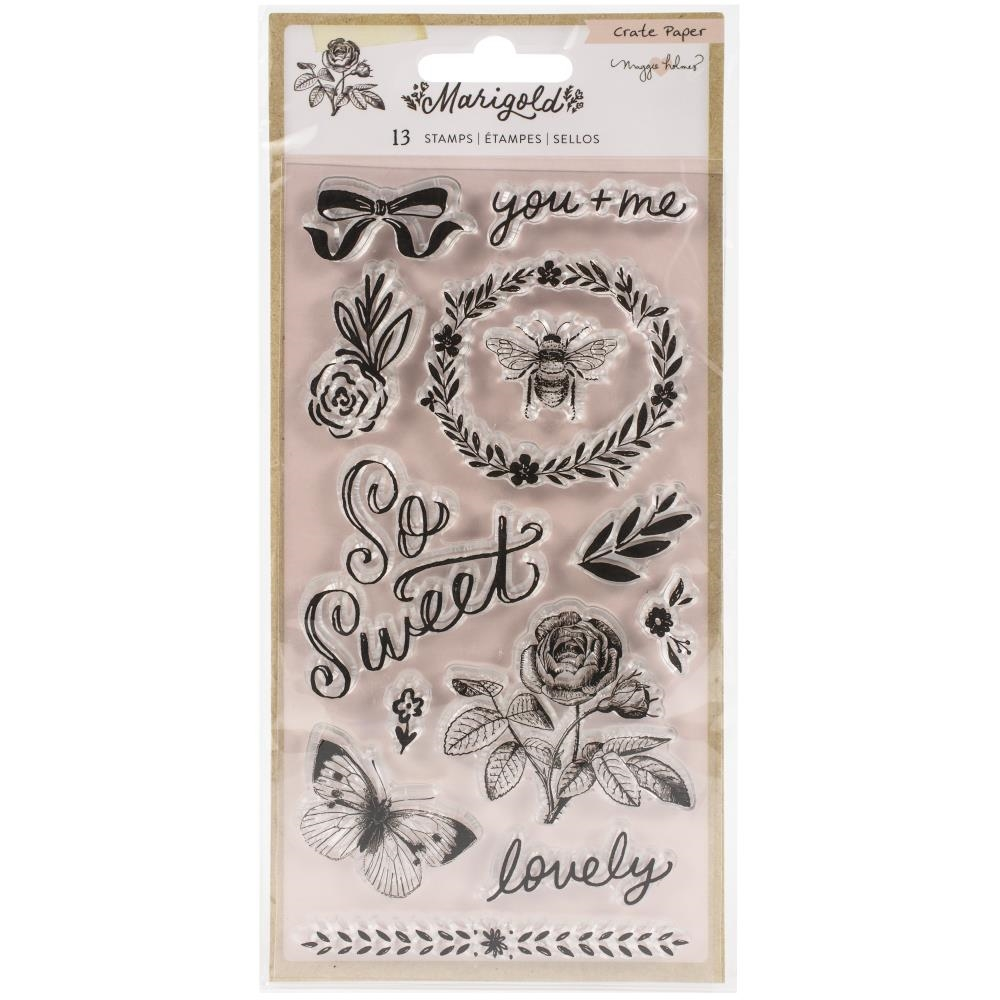 Crate Paper Maggie Holmes MARIGOLD Clear Stamps 373262* zoom image