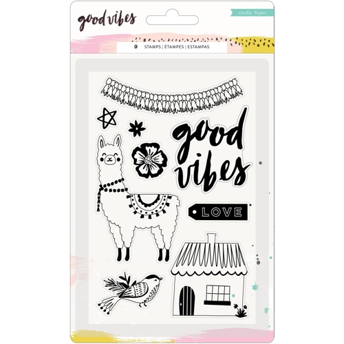 Crate Paper GOOD VIBES Clear Stamps 373193* Preview Image