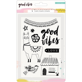 Crate Paper GOOD VIBES Clear Stamps 373193