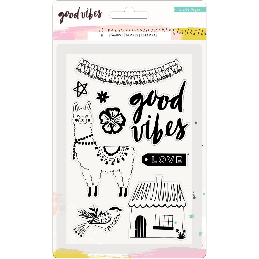Crate Paper GOOD VIBES Clear Stamps 373193* zoom image