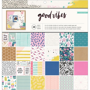 Crate Paper GOOD VIBES 12 x 12 Paper Pad 373192