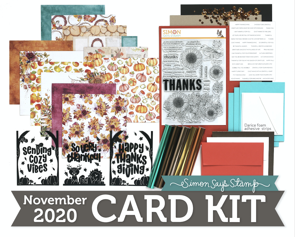 Simon Says Stamp Card Kit of the Month November 2020 BIG THANKS AUTUMN ck1120
