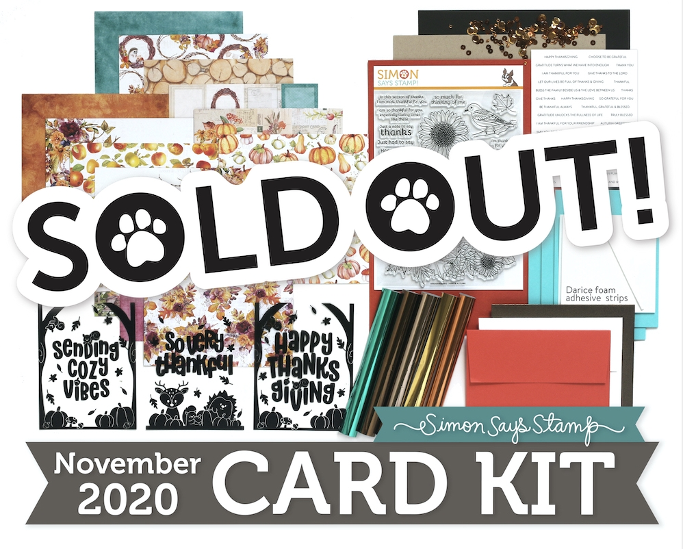 Simon Says Stamp Card Kit of the Month November 2020 BIG THANKS AUTUMN ck1120 zoom image