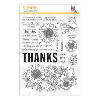 Simon Says Clear Stamps BIG THANKS AUTUMN sss202092c