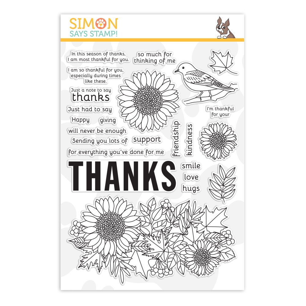 Simon Says Clear Stamps BIG THANKS AUTUMN sss202092c  zoom image