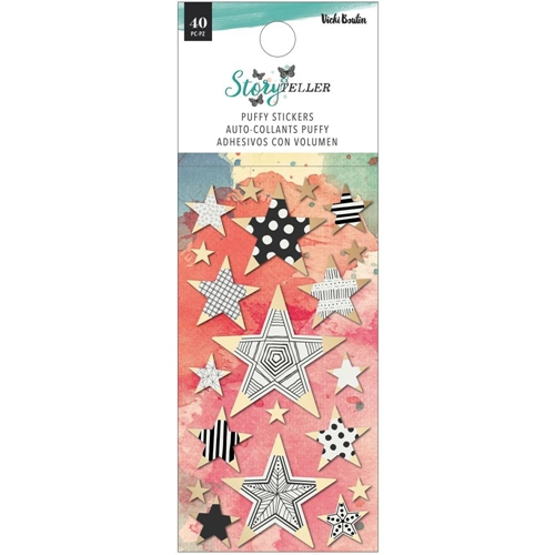 American Crafts Vicki Boutin STORY TELLER Puffy Stickers with Foil Accents 34001350 Preview Image