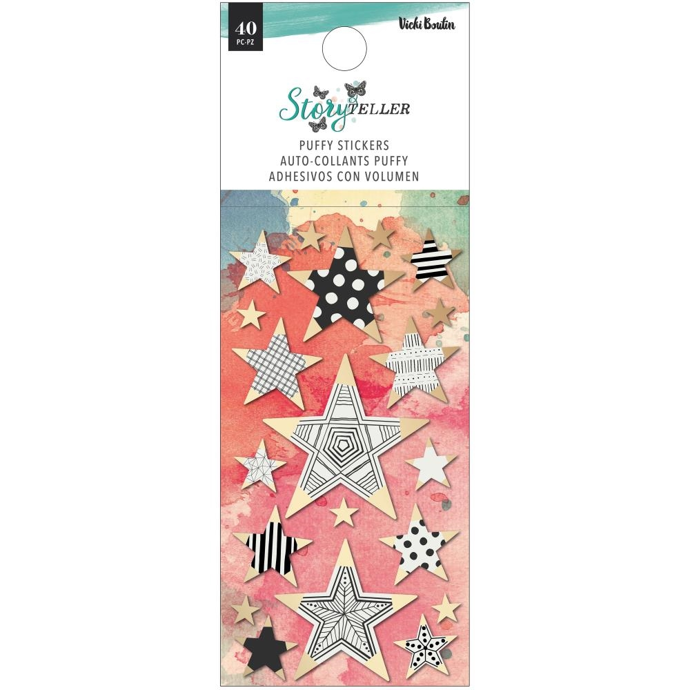 American Crafts Vicki Boutin STORY TELLER Puffy Stickers with Foil Accents 34001350 zoom image