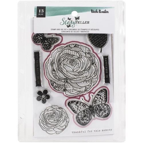 American Crafts Vicki Boutin STORYTELLER Clear Stamp and Die Set 34001346 Preview Image
