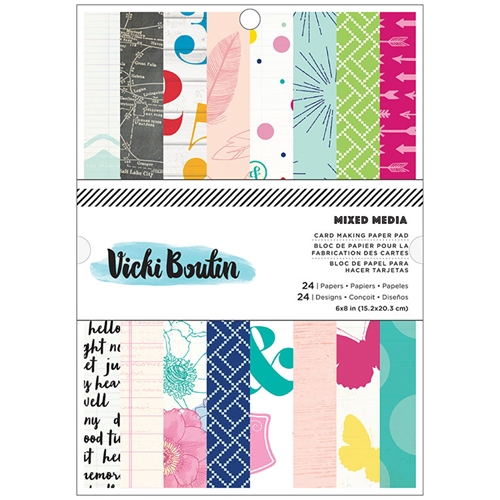 American Crafts Vicki Boutin MIXED MEIDA Collection 6 x 8 Paper Pad  Preview Image