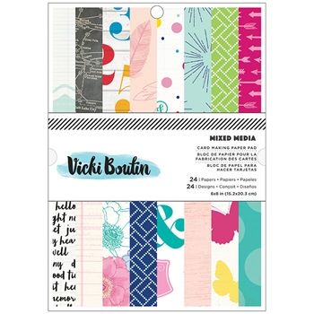 American Crafts Vicki Boutin MIXED MEIDA Collection 6 x 8 Paper Pad