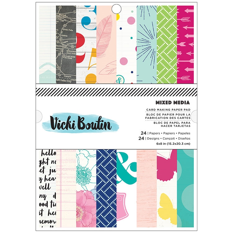 American Crafts Vicki Boutin MIXED MEIDA Collection 6 x 8 Paper Pad  zoom image