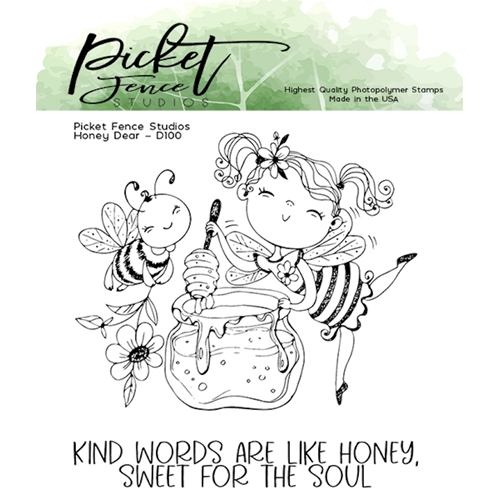 Picket Fence Studios HONEY DEAR Clear Stamps d100 Preview Image