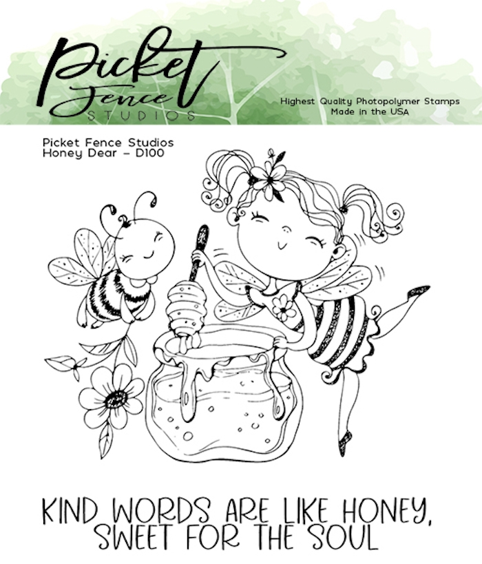 Picket Fence Studios HONEY DEAR Clear Stamps d100 zoom image