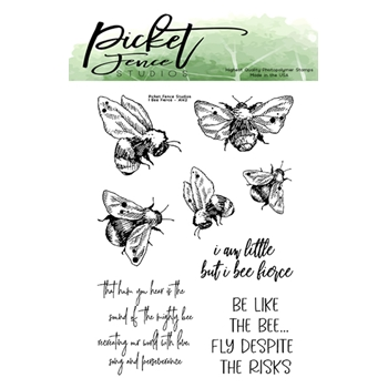 Picket Fence Studios I BEE FIERCE Clear Stamps a142