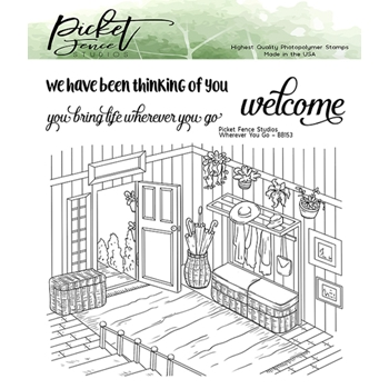 Picket Fence Studios WHEREVER YOU GO Clear Stamps bb153