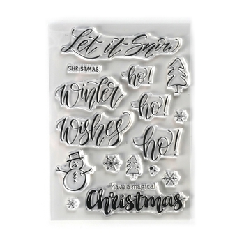 Elizabeth Craft Designs Clear Stamps SNOW cs188