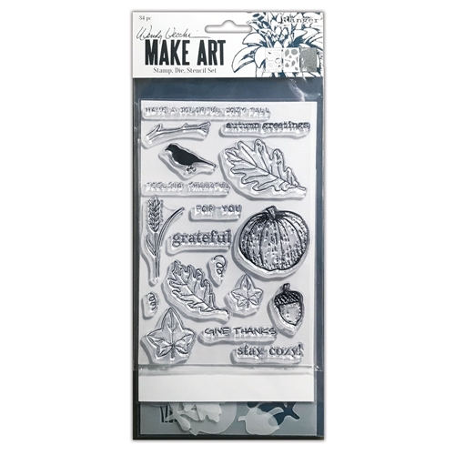 Ranger Wendy Vecchi AUTUMN GREETINGS Make Art Stamp Die And Stencil Set wvz75240 Preview Image