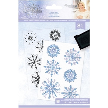 Crafter's Companion FROSTED LAYERS Clear Stamp Set sgsstfrla